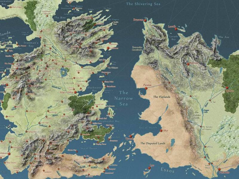 trónok harca térkép Megismernéd a Trónok harca világát? Itt van hozzá egy interaktív